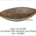 Pandan tray teracotta - 6c tkt 078