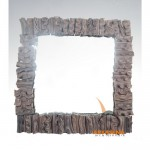 wood mirror deco - 70748