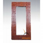 wood mirror deco - 70757