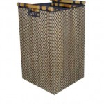 basket square cocostick w/ bamboo handle - 6c ldi 006