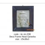 Deco farme head ganesha - 6c stn 038