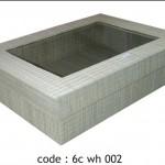 rectangular box grass - 6c wh 002