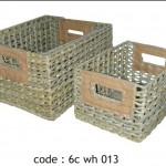 basket rectangular set 3 - 6c wh 013