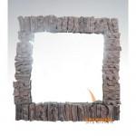 wood mirror deco - 70748